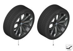 Wheel front with winter tyre Pirelli Winter Sottozero 3 Run Flat  245/45R20 103V XL