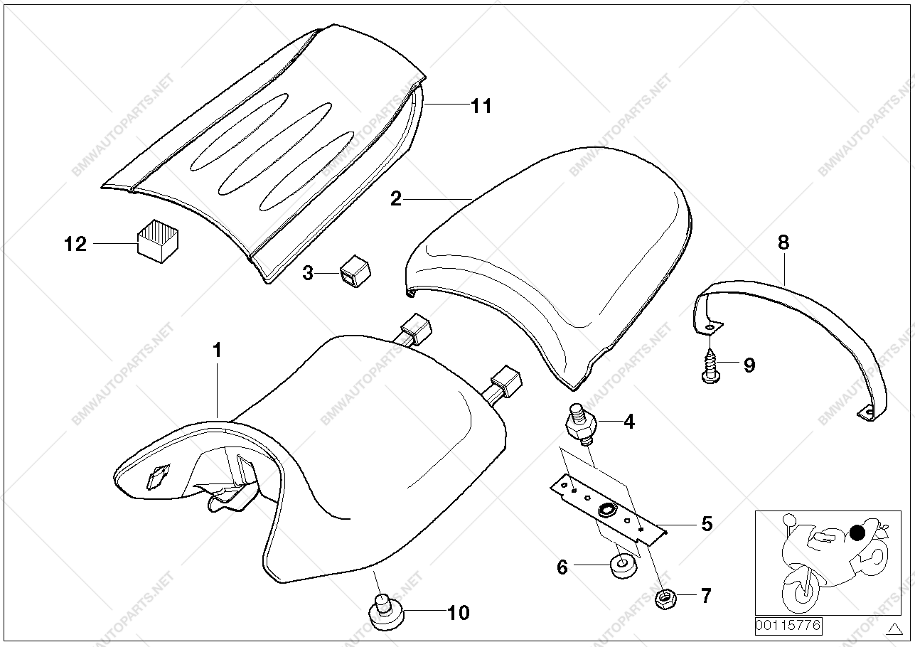 Astounding Bench Seat And Mounting Parts For Bmw R28 R 850 R R 1150 R Dailytribune Chair Design For Home Dailytribuneorg