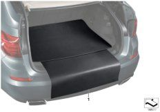 Cargo area reversible mat