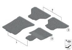 All-weather floor mats, front, anthrazite