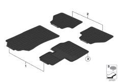 All-weather floor mats, front