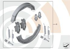 Service Kit repair set for brake shoes