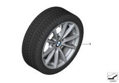 Wheel with winter tyre Continental IceContact 2  studded 205/60R16 96T XL