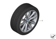 Wheel 225/50R17 98T XL with winter tyre Continental  IceContact 3 TR, DOT 5018