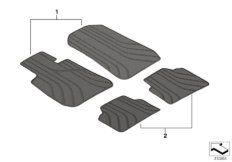 All-weather floor mats, front, anthrazit
