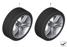 Wheel front with winter tyre Michelin Pilot Alpin 4*  RDC i 235/35R19 91W XL