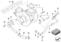 Installation kit for turbocharger