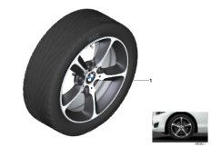 17' compl. summer wheels set: light alloy rims, RDC sensor, tires Dunlop SP Sport Maxx TT ROF
