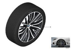 21' compl. summer wheels set: light alloy rims, tires Pirelli P-Zero RF