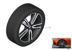 19' compl. summer wheels set: light alloy rims, RDC sensor, tires Pirelli P Zero RF