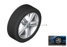 18' compl. summer wheels set: light alloy rims, RDC sensor, tires Bridgestone Potenza S001 RFT
